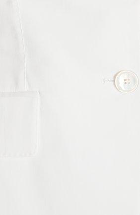 Приталенный жакет на пуговицах с карманами Dolce & Gabbana белый | Фото №3