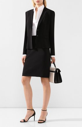 Женская шерстяная юбка BOSS черного цвета, арт. 50291813 | Фото 2