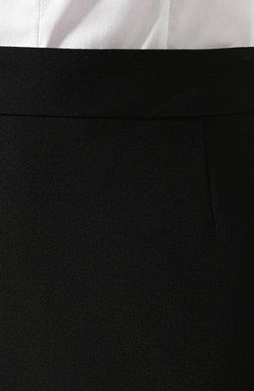 Женская шерстяная юбка BOSS черного цвета, арт. 50291813   Фото 5