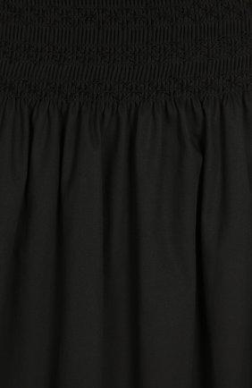 Юбка-миди А-силуэта с эластичным поясом REDVALENTINO черная | Фото №3