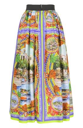 Юбка-миди свободного кроя с ярким принтом Dolce & Gabbana разноцветная   Фото №2