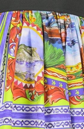 Юбка-миди свободного кроя с ярким принтом Dolce & Gabbana разноцветная   Фото №3