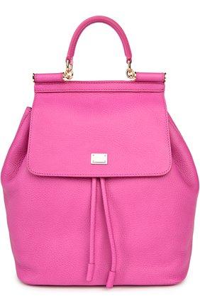 Кожаный рюкзак с клапаном Sicily Backpack | Фото №1