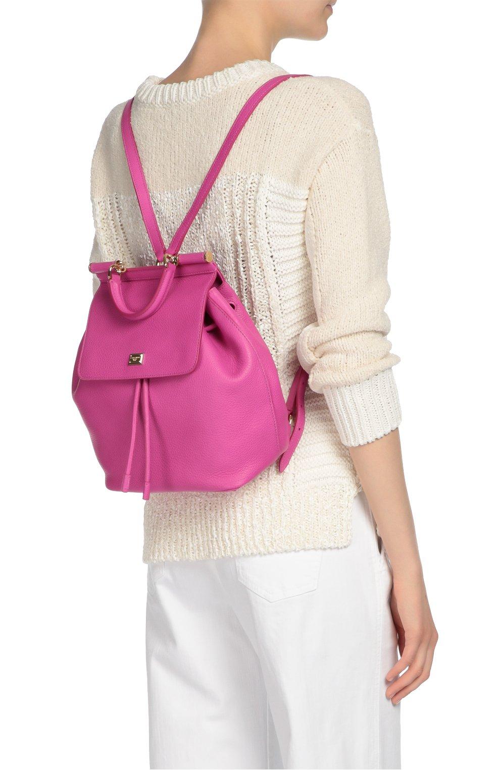 Кожаный рюкзак с клапаном Sicily Backpack | Фото №7