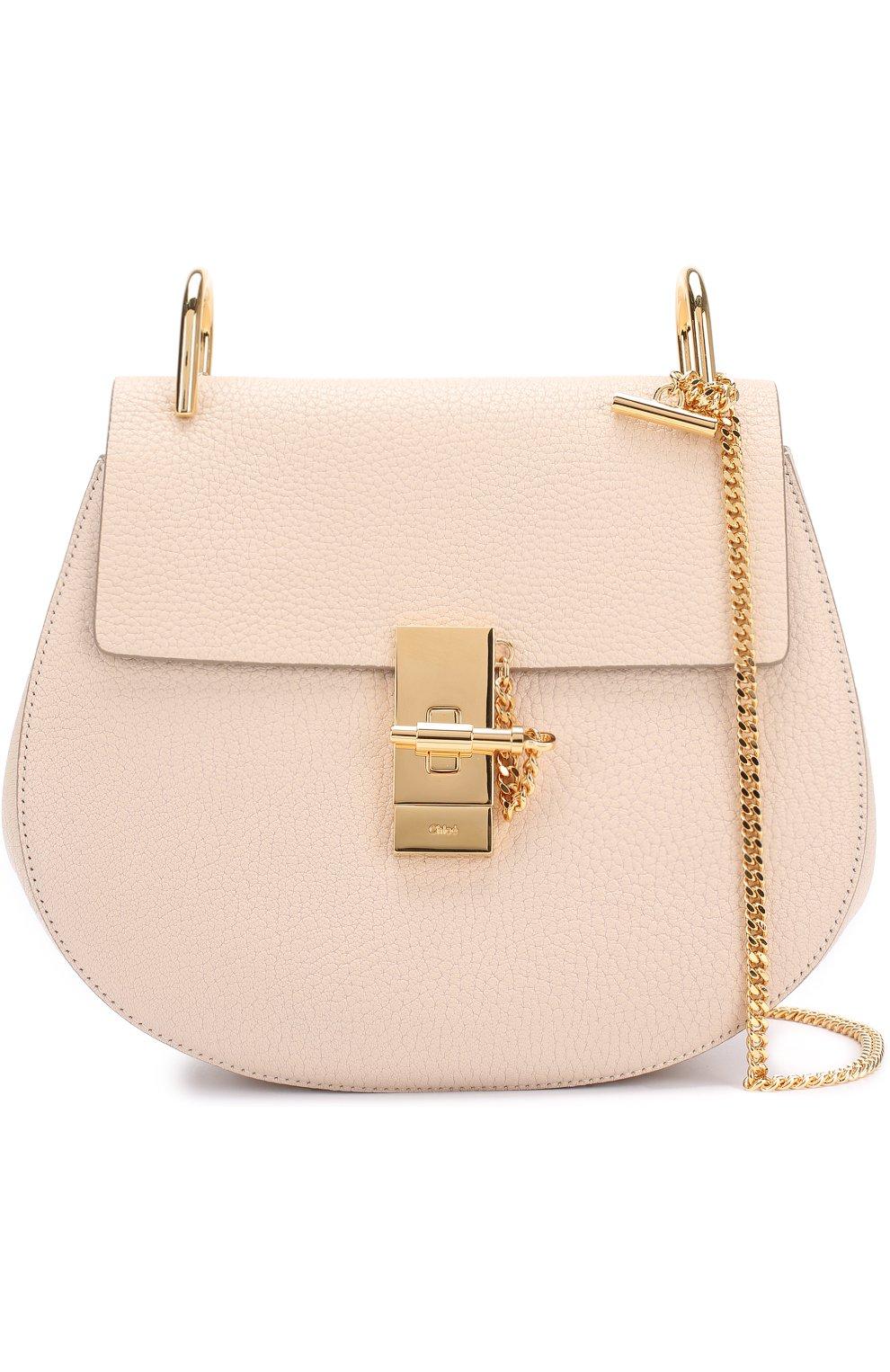 4384fc3aa1f8 Женская сумка drew на цепочке CHLOÉ кремовая цвета — купить за ...