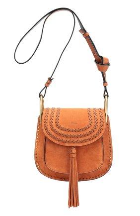 Замшевая сумка Hudson small с плетением и металлическим декором   Фото №1