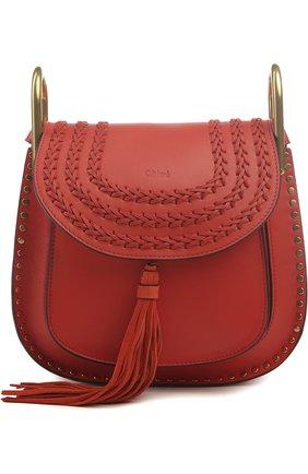 Кожаная сумка Hudson small с плетением и металлическим декором   Фото №1