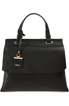 Кожаная сумка Double Gusset с клапаном    Фото №1