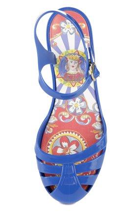 Детские сандалии с круглым мысом Dolce & Gabbana ультрамаринового цвета | Фото №4