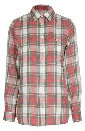 Женская блуза прямого кроя в клетку в накладными карманами Denim&Supply by Ralph Lauren, цвет красный, арт. W02/AP273/DS193 в ЦУМ   Фото №1