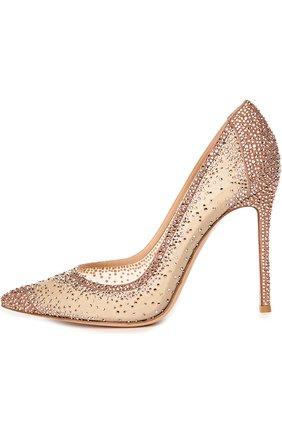Замшевые туфли с кристаллами Swarovski   Фото №1