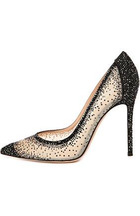 Замшевые туфли с кристаллами Swarovski | Фото №1