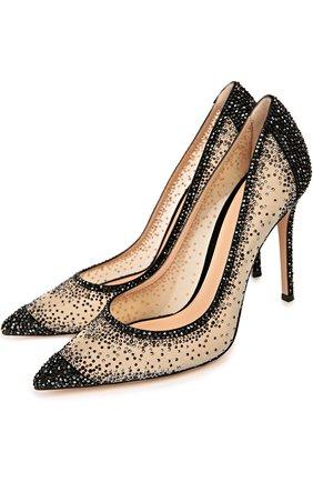 Замшевые туфли с кристаллами Swarovski | Фото №2