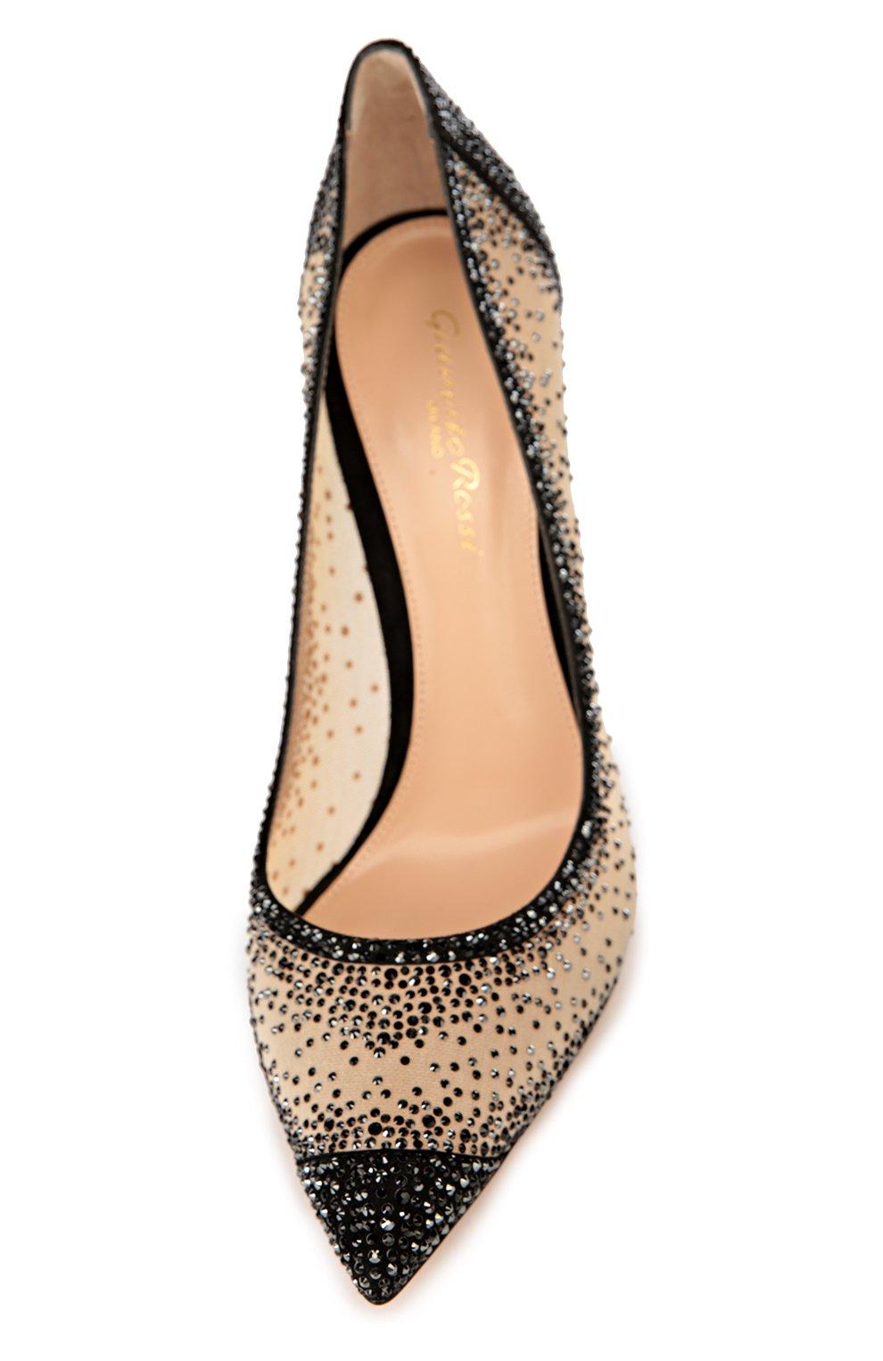 Замшевые туфли с кристаллами Swarovski | Фото №4