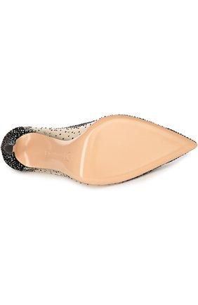 Замшевые туфли с кристаллами Swarovski | Фото №5