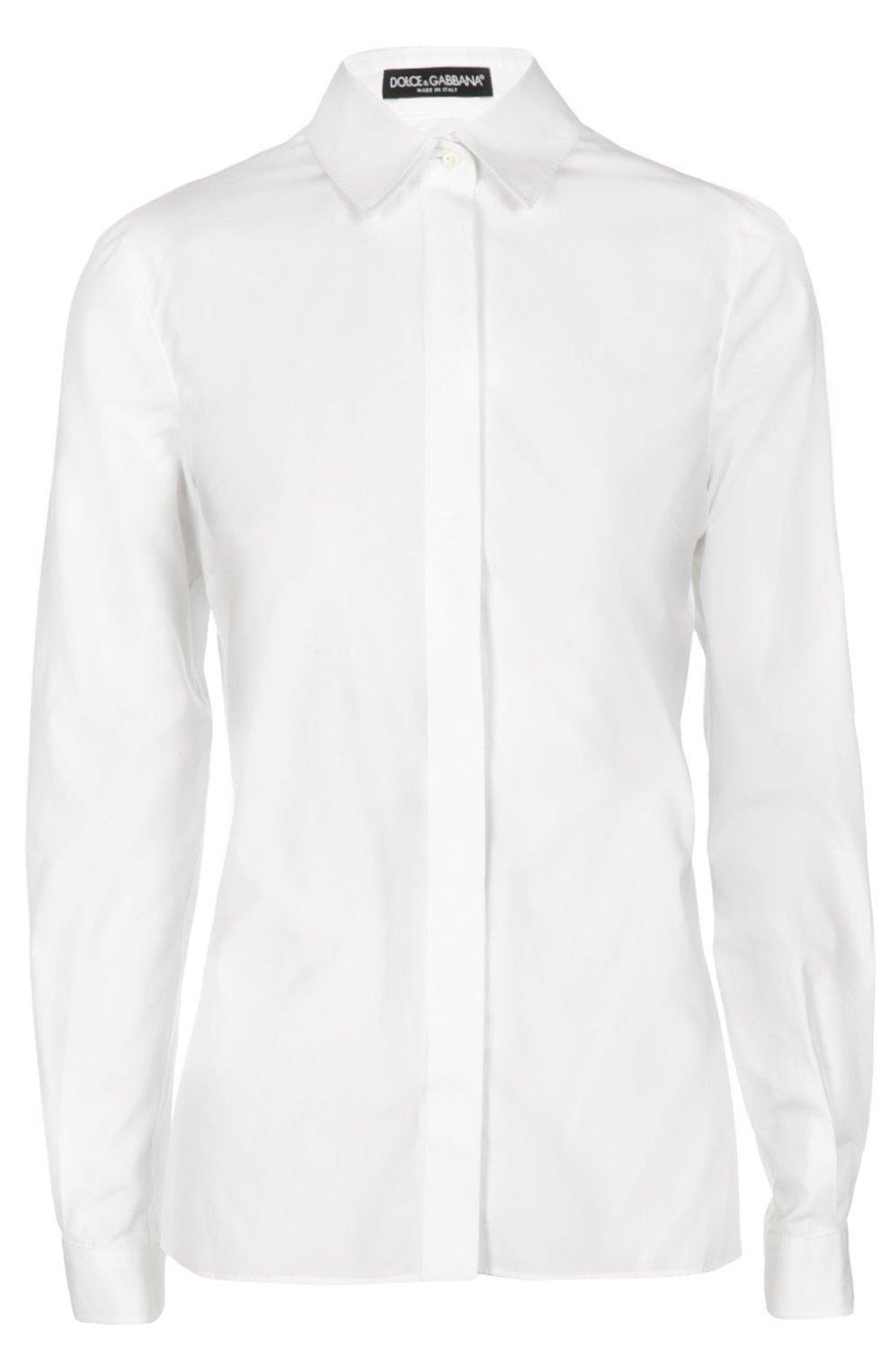 Приталенная хлопковая блуза | Фото №1