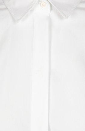 Приталенная хлопковая блуза Dolce & Gabbana белая | Фото №3
