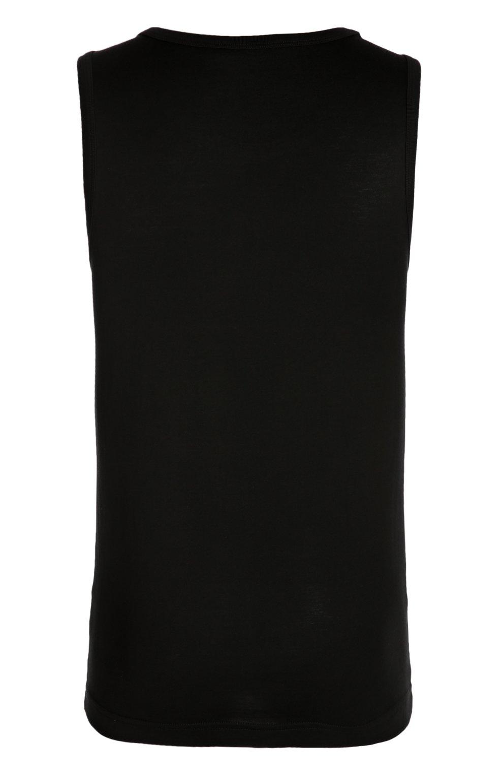 Хлопковая майка Dolce & Gabbana черная   Фото №2