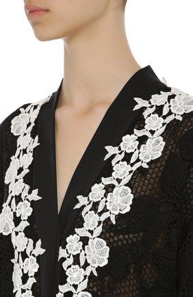 Кружевная абайя с контрастной отделкой Dolce & Gabbana черное | Фото №5