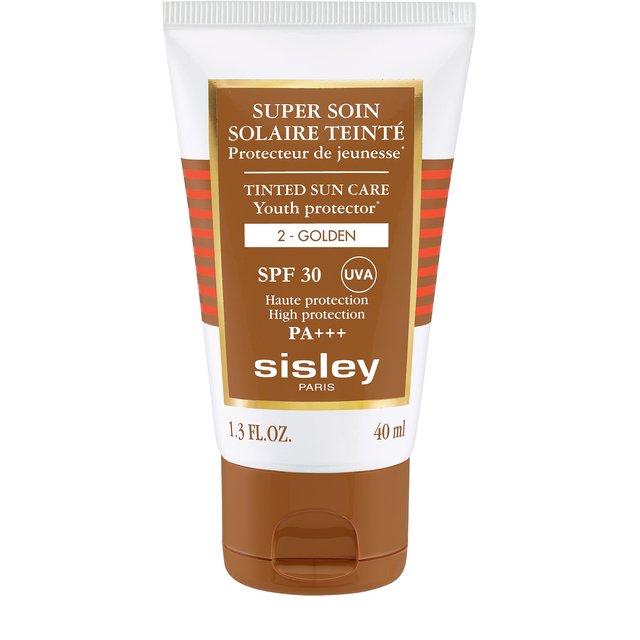 Солнцезащитный оттеночный крем для лица с SPF30 оттенок Золотистый Sisley.