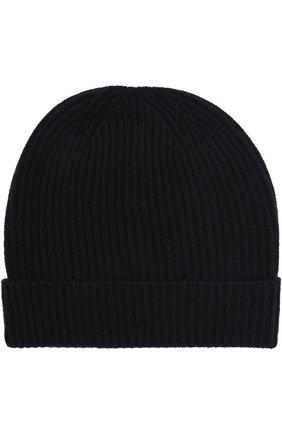 Кашемировая шапка с отворотом malo темно-зеленого цвета | Фото №1