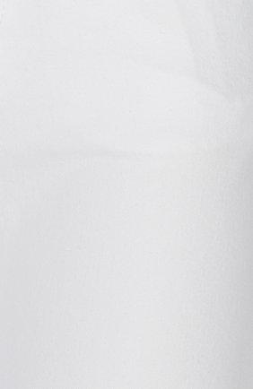 Джинсы прямого кроя с кожаной нашивкой | Фото №4