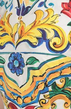 Приталенное платье без рукавов с цветочным принтом Dolce & Gabbana разноцветное | Фото №5