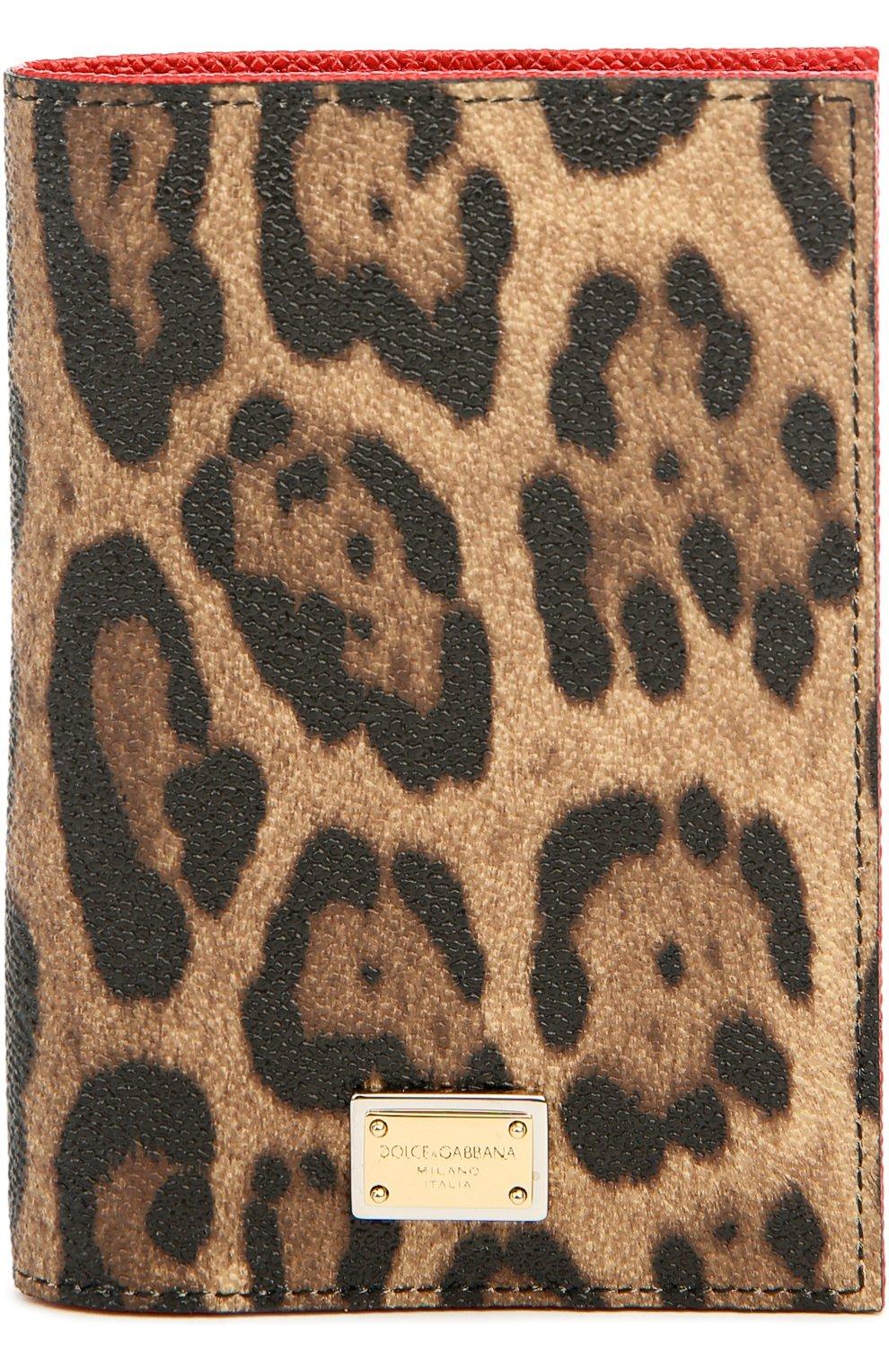 Обложка для паспорта с леопардовым принтом | Фото №1