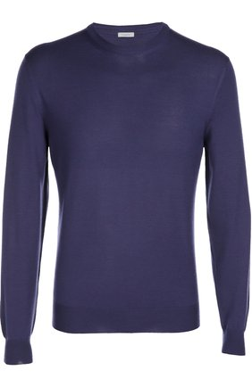 Джемпер из шерсти тонкой вязки malo фиолетовый | Фото №1