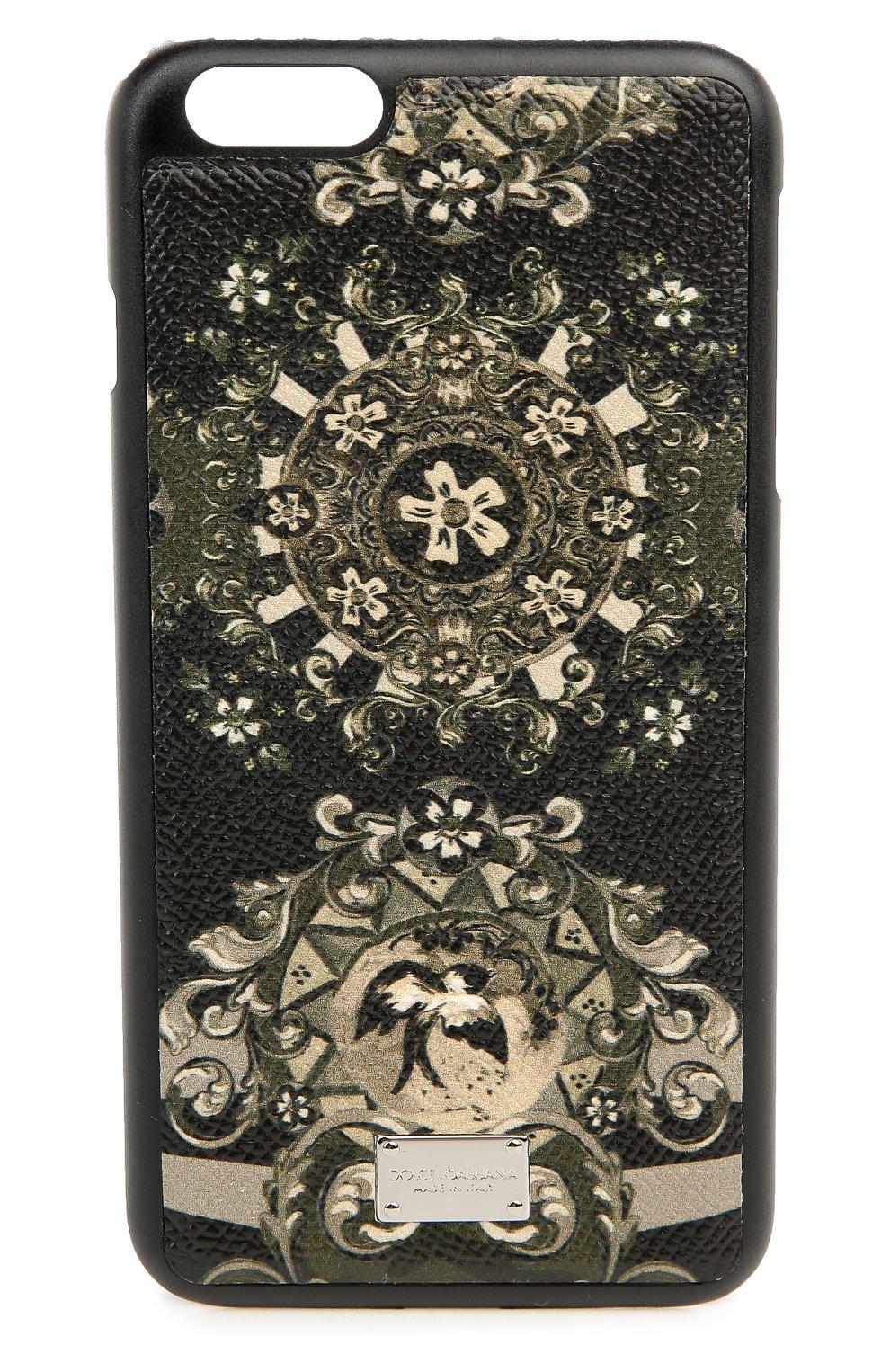 Кожаный чехол для iPhone 6 Plus с принтом   Фото №1