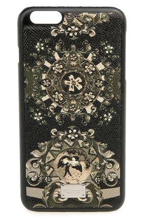 Кожаный чехол для iPhone 6 Plus с принтом Dolce & Gabbana    Фото №1
