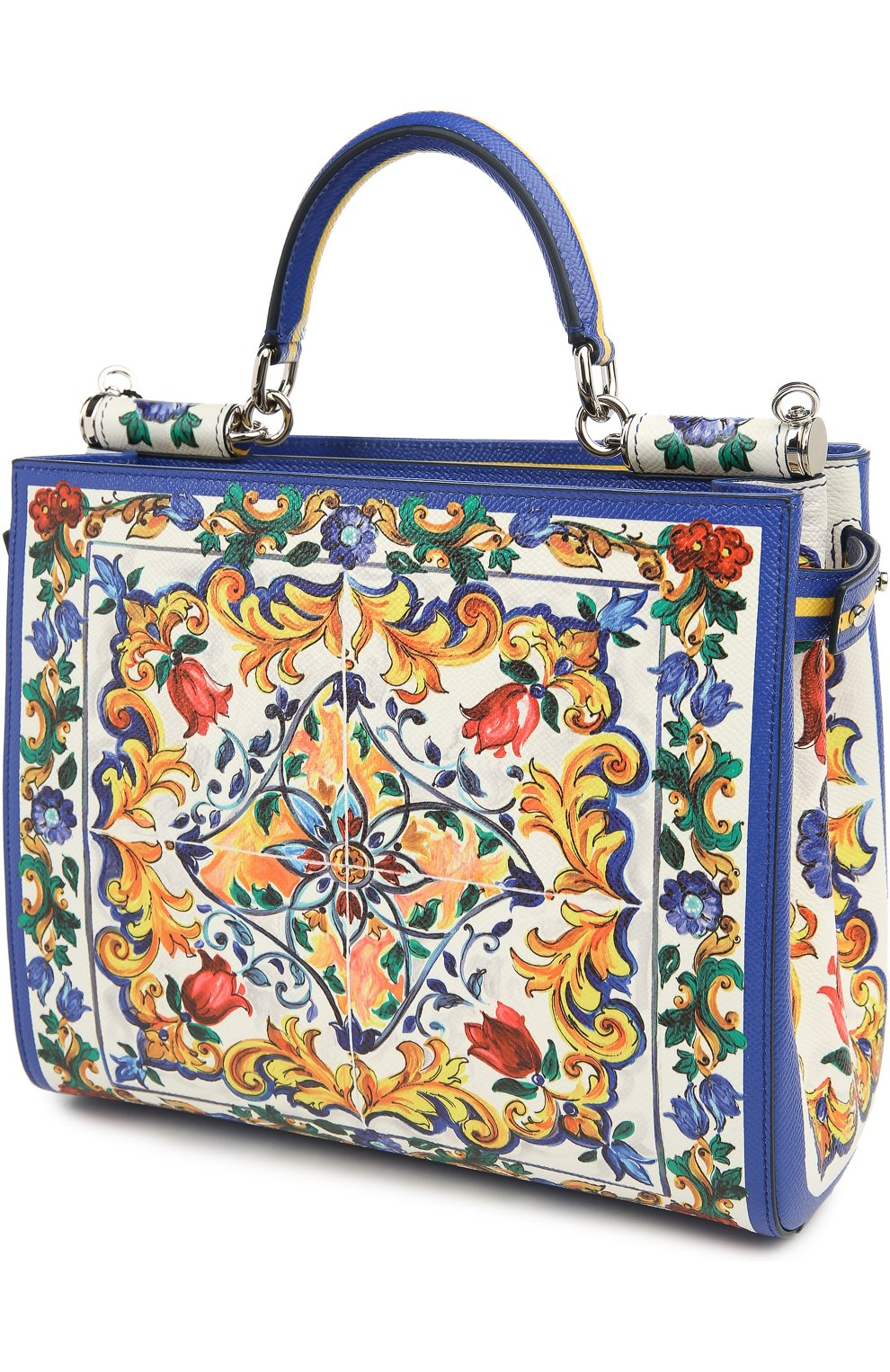 Кожаная сумка-тоут Sicily  с принтом | Фото №4