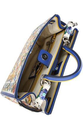 Кожаная сумка-тоут Sicily  с принтом | Фото №5