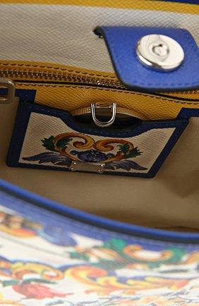 Кожаная сумка-тоут Sicily  с принтом | Фото №6