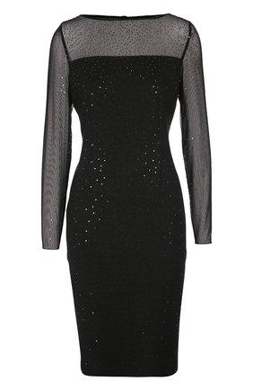 Полупрозрачное платье-футляр с пайетками | Фото №1