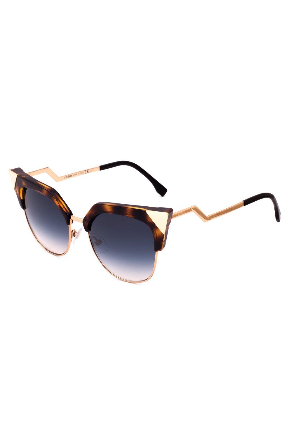 Женские солнцезащитные очки FENDI синего цвета, арт. 0149 TLW   Фото 2