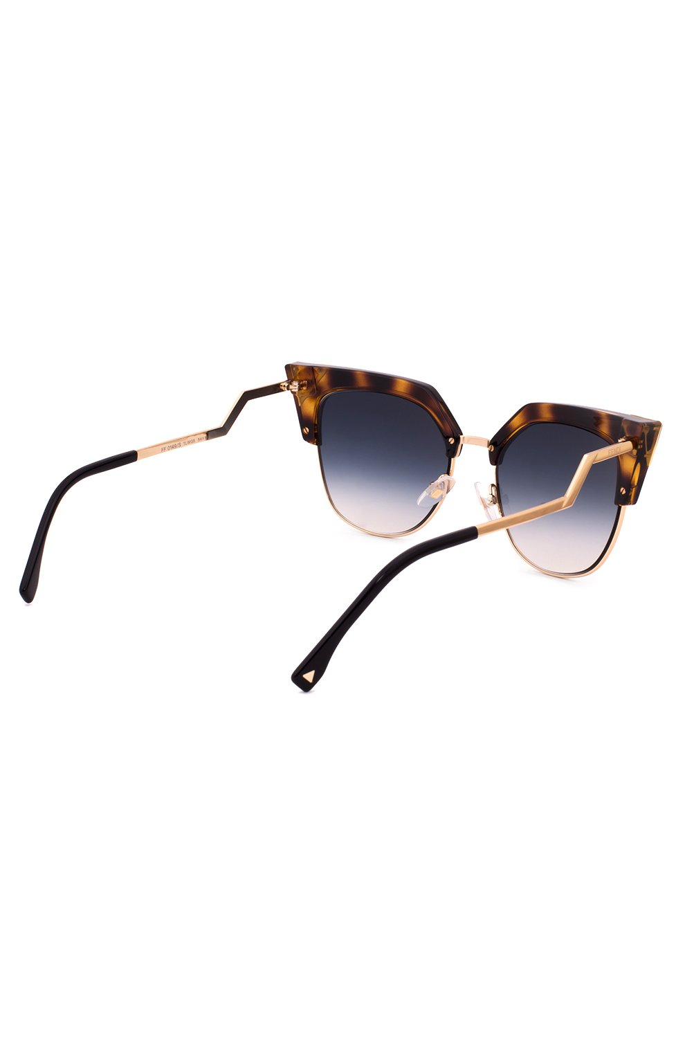 Женские солнцезащитные очки FENDI синего цвета, арт. 0149 TLW   Фото 3