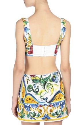 Топ-бюстье с ярким принтом Dolce & Gabbana разноцветный | Фото №4