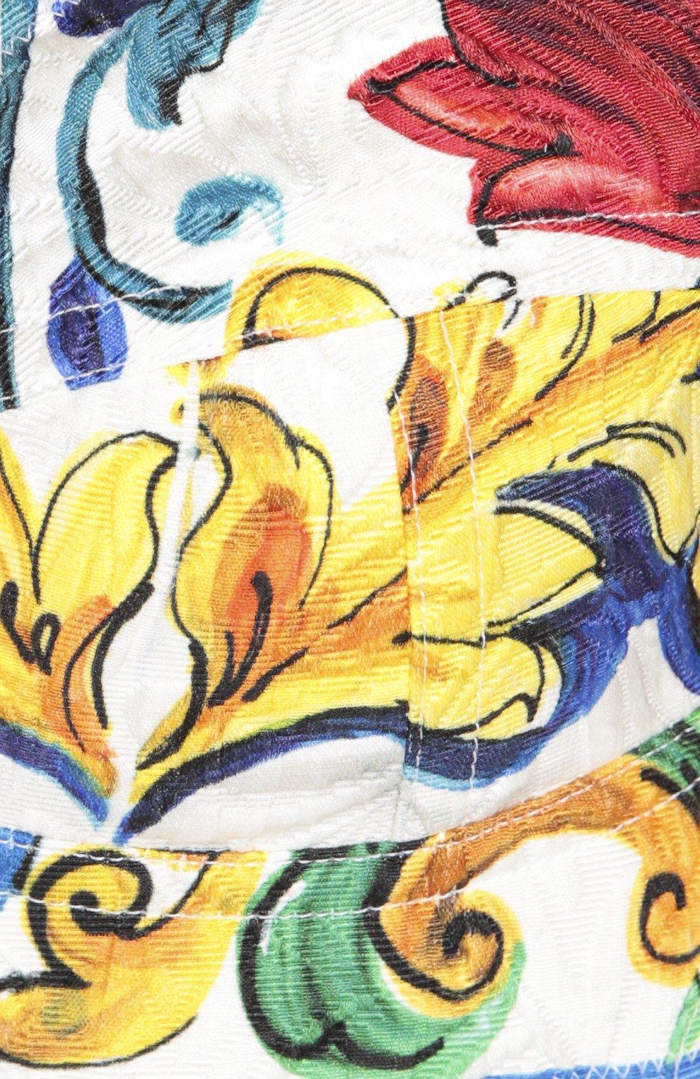 Топ-бюстье с ярким принтом Dolce & Gabbana разноцветный | Фото №5