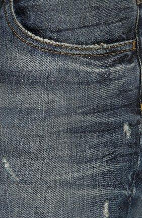 Джинсы с потертостями Dolce & Gabbana синие | Фото №5