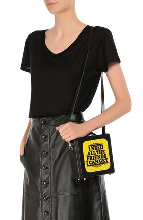 Сумка-сундук 7 inch с аппликацией Olympia Le-Tan черная цвета   Фото №1