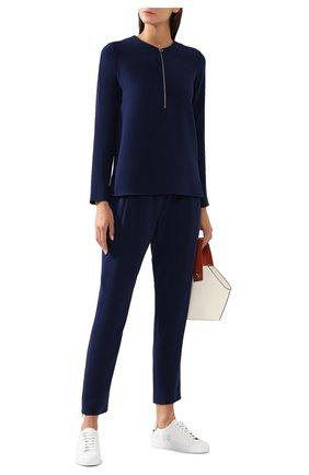 Женская блузка из вискозы STELLA MCCARTNEY темно-синего цвета, арт. 341360/SCA06 | Фото 2