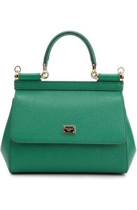 Сумка Sicily small Dolce & Gabbana зеленая цвета   Фото №1