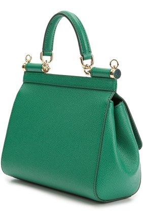 Сумка Sicily small Dolce & Gabbana зеленая цвета   Фото №3