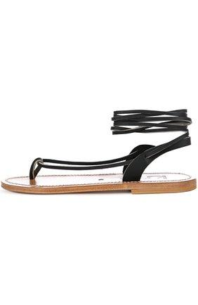 Кожаные сандалии-гладиаторы Capricone | Фото №1