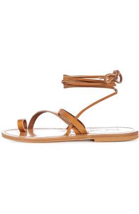 Кожаные сандалии-гладиаторы Ellada K Jacques коричневые | Фото №1
