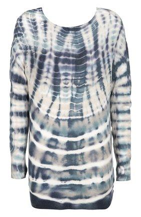 Удлиненный пуловер с контрастным принтом | Фото №1