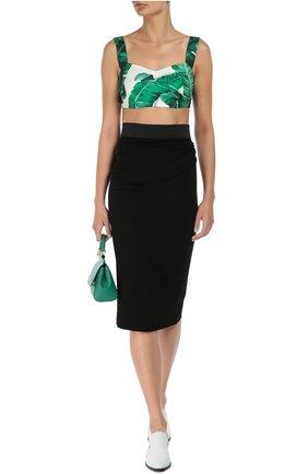 Юбка-карандаш с широким контрастным поясом Dolce & Gabbana черная   Фото №2