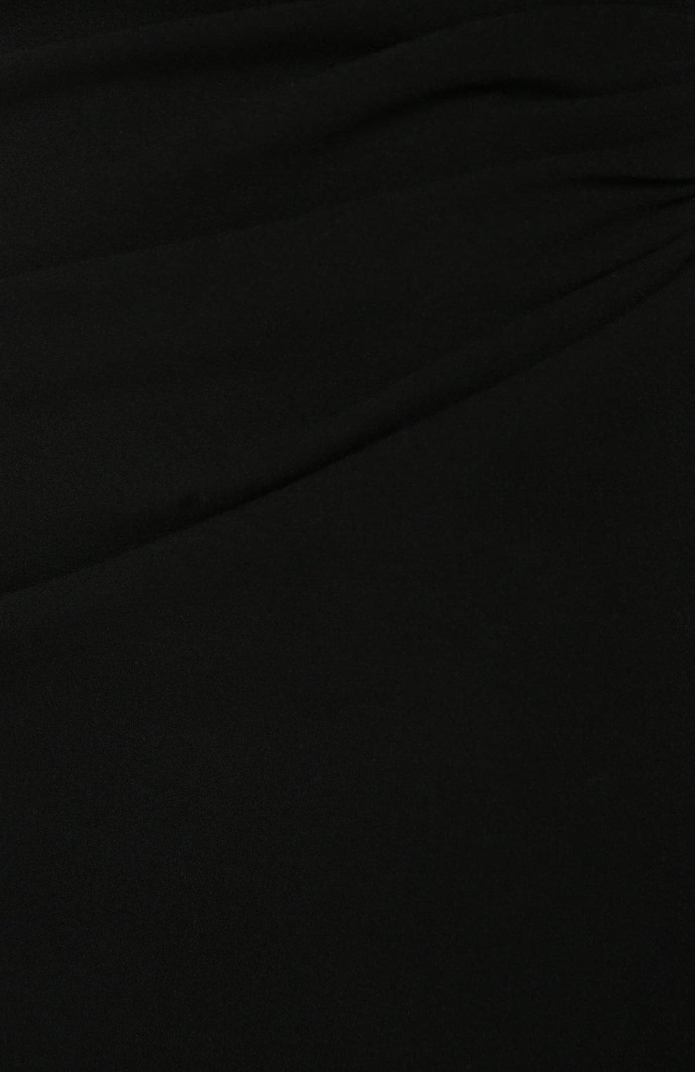 Юбка-карандаш с широким контрастным поясом Dolce & Gabbana черная   Фото №5