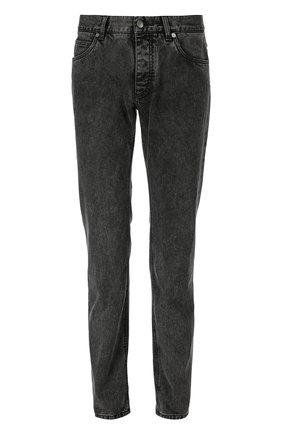 Зауженные джинсы с нашивкой Dolce & Gabbana темно-серые | Фото №1